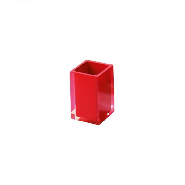 Portaspazzolino Gedy G-Rainbow - Rosso