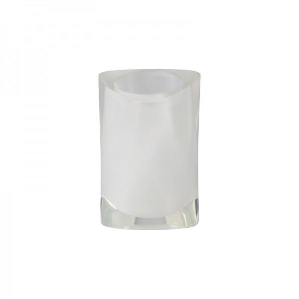 Portaspazzolino Gedy G-Twist - Bianco