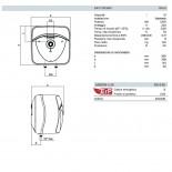 Dimensioni Andris Lux 10 L sottolavello